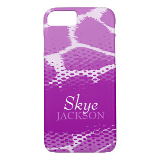 Purple graphic animal iPhone case