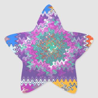 Purple Graphics - keep U warm and excited in life Star Sticker