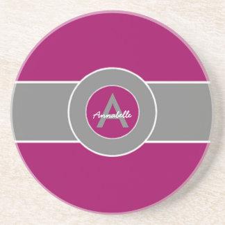 Purple Gray Coaster