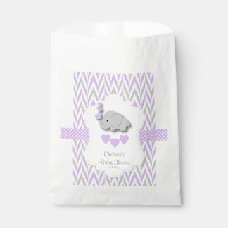 Purple & Gray Elephant Baby Shower 2 Favour Bag