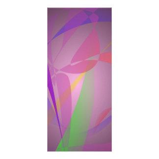 Purple Gray Gentle Abstract Design Rack Cards