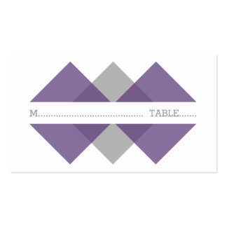 Purple Gray Geometric Triad Place Card Pack Of Standard Business Cards