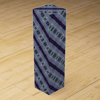 purple gray striped wine box