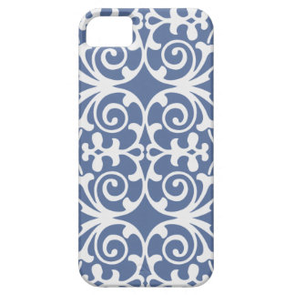 Purple/Gray with white damask patter iPhone 5 case