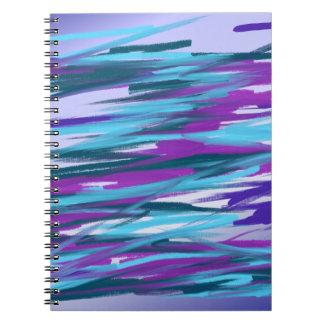 Purple & Green Abstract Art Notebook