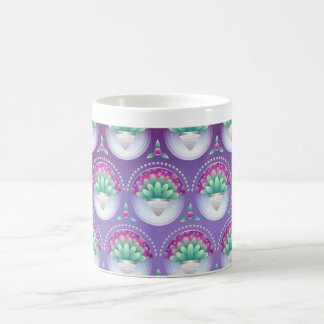 Purple, Green and Pink Floral 325 ml  Classic Mug
