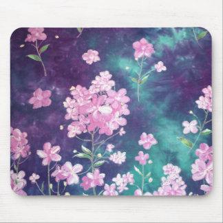 Purple Green Batik Texture Mousepads
