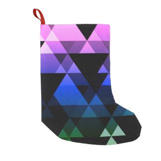 Purple, Green & Blue Triangle Design Small Christmas Stocking