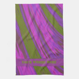 Purple Green Color Swish Hand Towel