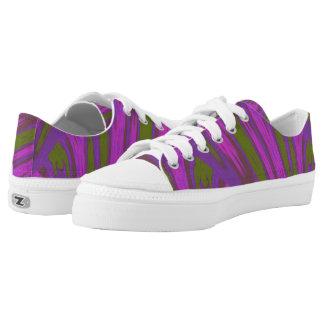 Purple Green  Color Swish Low Tops