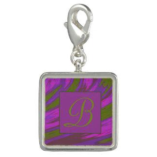 Purple Green Color Swish Monogram
