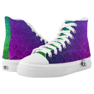 Purple Green Colourful High Top Shoes