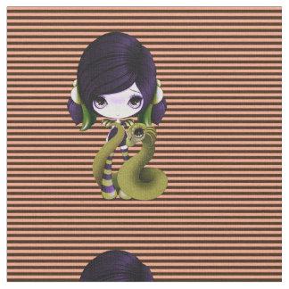 Purple & Green Dragon Lady Fabric