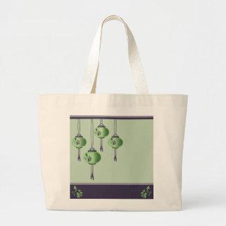 Purple green lanterns Jumbo Tote bag