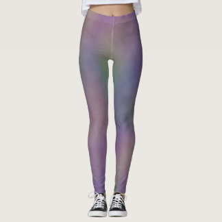 Purple Green Magenta Yellow Leggings