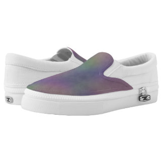 Purple Green Magenta Yellow Slip On Shoes