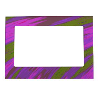 Purple Green Modern Colorful Abstract Magnetic Frame