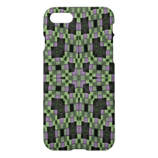 purple green multicolored square pattern iPhone 8/7 case