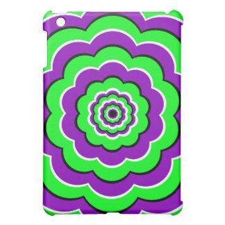 Purple - Green Optical Fun iPad Mini Case