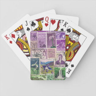 Purple Green Playing Cards, Boho Hippie Travel Art Playing Cards