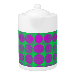 purple/green Retro Circle tea pot
