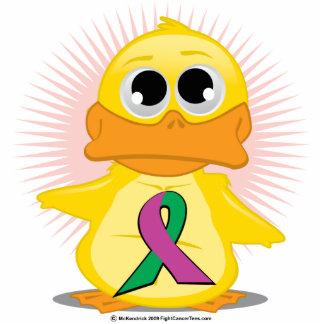 Purple Green Ribbon Duck Photo Cut Out