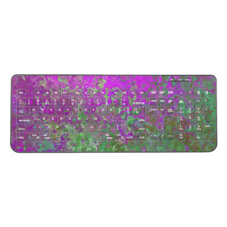 Purple Green Rust Zombie Wireless Keyboard