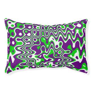 """Purple & Green"" Swirled Op-Art Small"