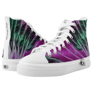 Purple & Green Tropical Printed Shoes