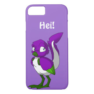 Purple/Green/White Reptilian Bird Hei iPhone 8/7 Case