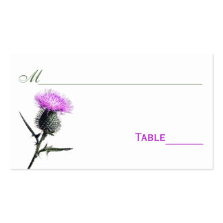 Purple, Green, White Thistle Flower Place Cards Pack Of Standard Business Cards