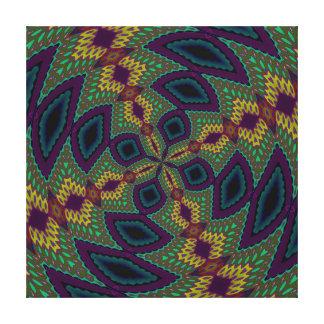 Purple Green Yellow Modern Geometric Abstract Patt Canvas Prints