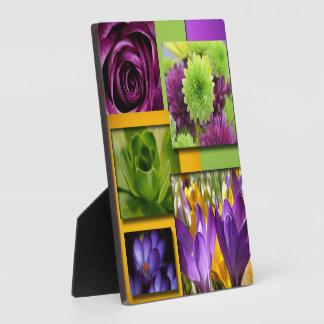 Purple & Grenn Flower Collage Plaque