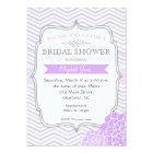 Purple & Grey Vintage  Bridal shower Invitation