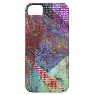 Purple Grid Barely There iPhone 5 Case