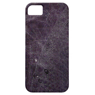 Purple grit with pink lines & scribbles barely there iPhone 5 case
