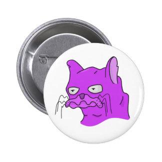 Purple Grump Cat 6 Cm Round Badge
