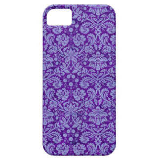 Purple Grunge Damask Case For The iPhone 5