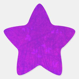 Purple grunge star sticker