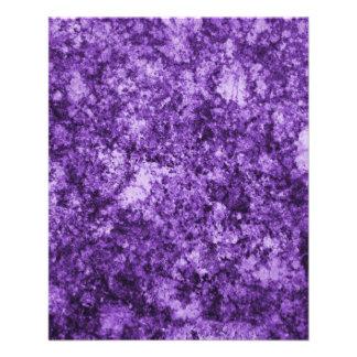 Purple Grungy Abstract Design Custom Flyer