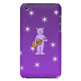 Purple Guitarist Bear. Barely There iPod Cases