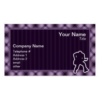 Purple Guitarist Business Card Template