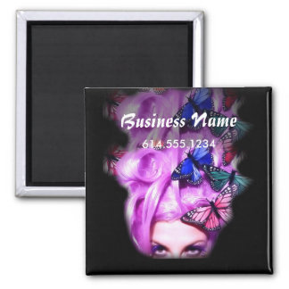 Purple Hair Butterfly Lady Magnet