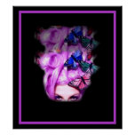 Purple Hair Butterfly Lady  Poster/Print 2