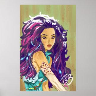 Purple hair poster