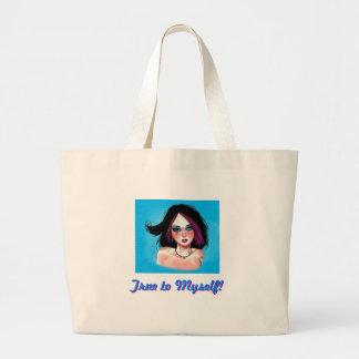 purple hair jumbo tote bag
