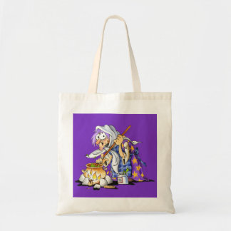 Purple Halloween Treat Bags With Purple Witch