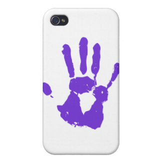 Purple Hand LGBT Gay Rights Symbol iPhone 4/4S Case