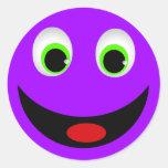 PURPLE HAPPY SMILEY FACE