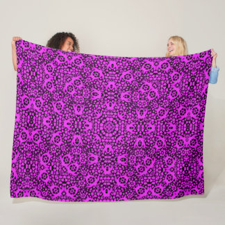 Purple Hawaiian Sea Turtles Satin Foulard Mandala Fleece Blanket